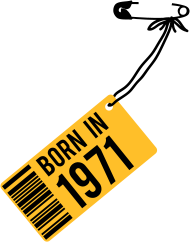 Jahrgang 1970 Geburtstagsshirt: born in 1971