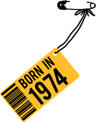 Jahrgang 1970 Geburtstagsshirt: born in 1974