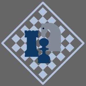 Schachbrett mit Dreiergruppe