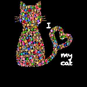 I love my cat - weisse Schrift