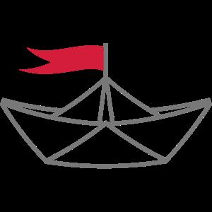 Papierschiff Papierboot Fahne Boot Schiff Symbol