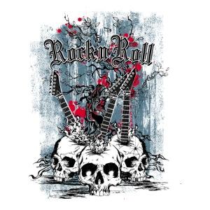 rock n roll skulls