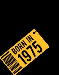 Jahrgang 1970 Geburtstagsshirt: born in 1975