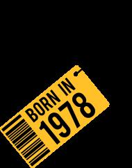 Jahrgang 1970 Geburtstagsshirt: born in 1978