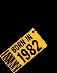 Jahrgang 1980 Geburtstagsshirt: born in 1982