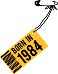 Jahrgang 1980 Geburtstagsshirt: born in 1984