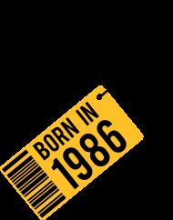 Jahrgang 1980 Geburtstagsshirt: born in 1986