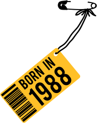 Jahrgang 1980 Geburtstagsshirt: born in 1988
