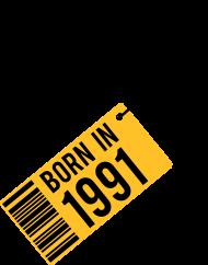 Jahrgang 1990 Geburtstagsshirt: born in 1991