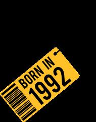 Jahrgang 1990 Geburtstagsshirt: born in 1992