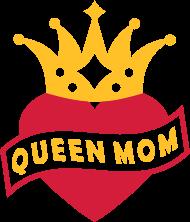 Muttertag Shirt: Mit Herz & Krone - QUEEN MOM