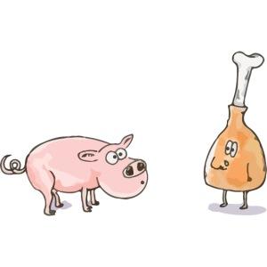 Le cochon et le jambon