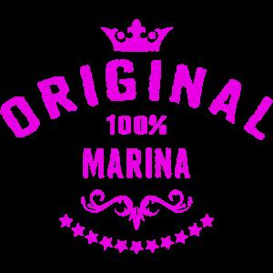 Frauen Vorname 100 Prozent Marina - RAHMENLOS Geburtstagsgeschenk Namenstag Muttertag