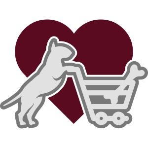 Shopping Bullterrier LOVE 3c