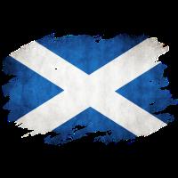 Schottland Flagge Used Look