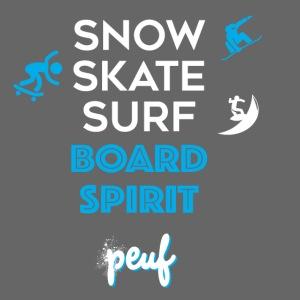 Snowboard, skate, surf