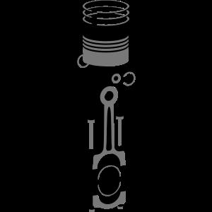3D Motorkolben / Zylinder