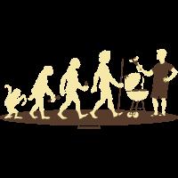 Evolution vom Affen zum Grill Meister - RAHMENLOS