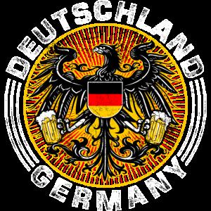 MIX - Deutschland Germany International Wappen - Adler mit Bier in der Hand - RAHMENLOS Geburtstag G
