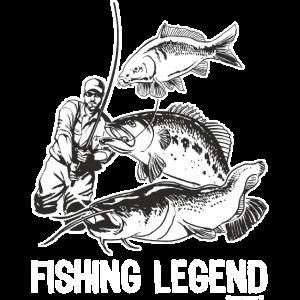 FID - Fishing Legend - Der Angel Gott - The Fishing Master - RAHMENLOS Geburtstag Geschenk