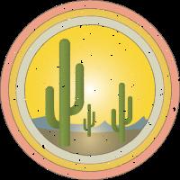 Kaktus, Wüste, Sonnenuntergang