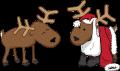 Motif Deux rennes