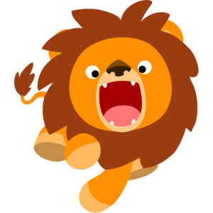 Cute Frisky Cartoon Lion by Cheerful Madness!!