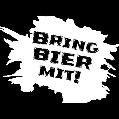 bringbiermit_logo_weiss - Frieden. Freunde. Bier. - weiß,bringbiermit,Logo,Hanau,Bier
