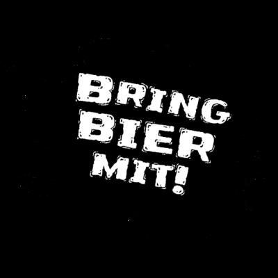 bringbiermit_logo_schwarz - Frieden. Freunde. Bier. - Schwarz,Logo,Hanau,Bier