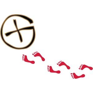 opencaching logo & footprints / 3 colors