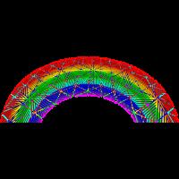 Psy Trance Regenbogen Goa Rainbow psychedelic