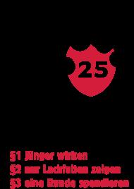 20. Geburtstagsshirt: Geburtstag 25: Älter als die Polizei erlaubt