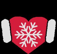 ApresSki-Shirt: I love Winter | Herz | Heart | Schnee | Headphones