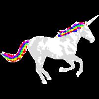 Regenbogen Einhorn Rainbow Unicorn Psy crazy Pixel