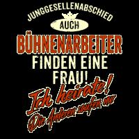 JGA BRAEUTIGAM - Bühnenarbeiter - Version Auch rot Retro - RAHMENLOS Berufe Geschenk