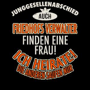 JGA BRAEUTIGAM - Friedhofs Verwalter - Version Auch - roter Bogen - RAHMENLOS Berufe Geschenk