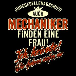 JGA BRAEUTIGAM - Mechaniker - Version Auch rot Retro - RAHMENLOS Berufe Geschenk