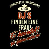 JGA Team - DJ - Version Auch rot Retro - RAHMENLOS Berufe Geschenk