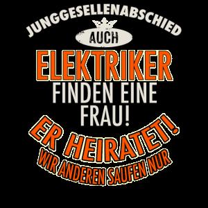 JGA Team - Elektriker - Version Auch - roter Bogen - RAHMENLOS Berufe Geschenk