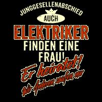 JGA Team - Elektriker - Version Auch rot Retro - RAHMENLOS Berufe Geschenk