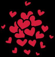 Valentinstag Shirt: Viele Herzen