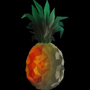 Ananas Polygon - Fade to Grey