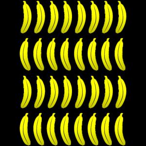 Bananen Muster Mosaik Sommer Obst Hawaii