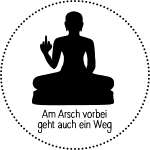 AA vorbei schwarz Kreis