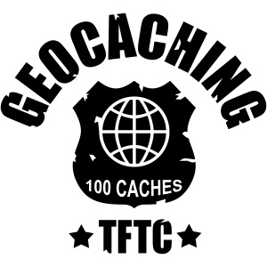 geocaching - 100 caches - TFTC / 1 color
