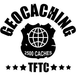 geocaching - 2500 caches - TFTC / 1 color