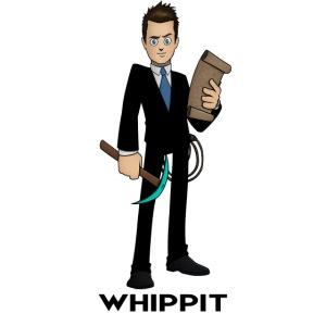 ChrisWhippit Spel avatar (svart text)