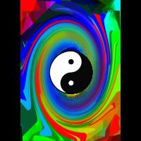 Psy Ying Yang Symbol Zeichen