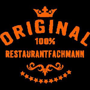 Original 100 Prozent Restaurantfachmann - RAHMENLOS Beruf Arbeit Job Design Geschenke