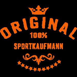 Original 100 Prozent Sportkaufmann - RAHMENLOS Beruf Arbeit Job Design Geschenke